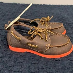 New Gap Baby Boy Toddler Brown Slip-On Boat Shoes